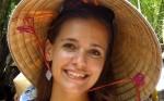 Mirka Kostelkova - On the rowing boat in mekong delta