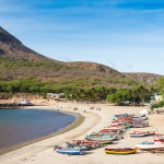 KAPVERDY - Tarrafal-beach-in-Santiago-island-in-Cape-Verde