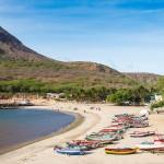 KAPVERDY - Tarrafal-beach-in-Santiago-island-in-Cape-Verde