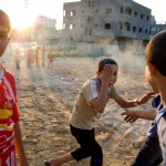 Palestinští kluci v Gaze