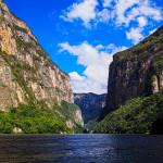 Eva Kubatova - mexiko - Kaňon El Sumidero se svými až 1300 metrů vysokými skalními stěnami
