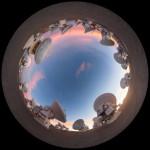 Dusky light on the ALMA antennas
