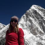 Veronika Marcikova - everest - závěrečná část treku do Kalapattar - hora Pumori